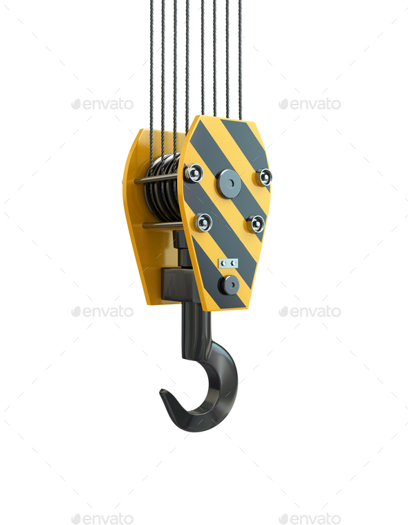 Crane hook. 3d - Stock Photo - Images