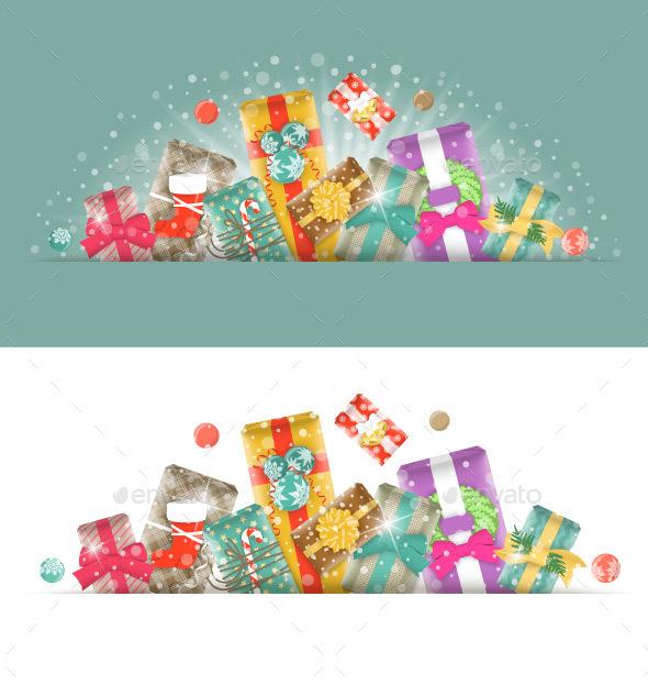 Christmas Gifts Horizontal Header Banner - Christmas Seasons/Holidays