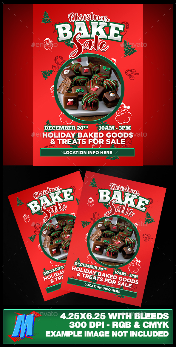 Christmas Bake Sale Flyer Template - Events Flyers