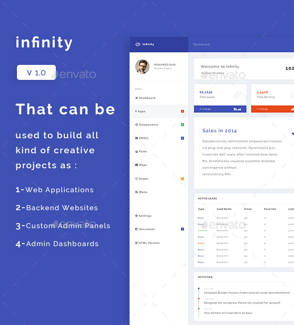 Infinity - Web Application Kit - User Interfaces Web Elements
