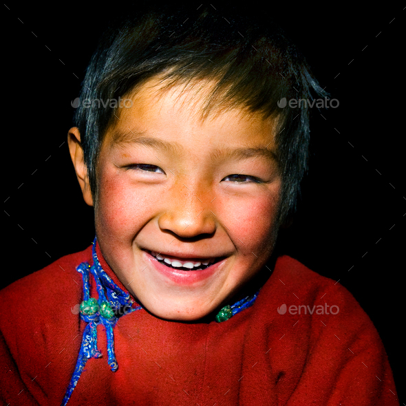 Asian Boy with a Beautiful Smile Cute Concept - Stock Photo - Images