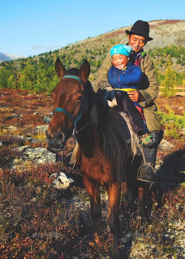Mongolian Tsataan Horse Equestrian Remote Rural Concept - Stock Photo - Images