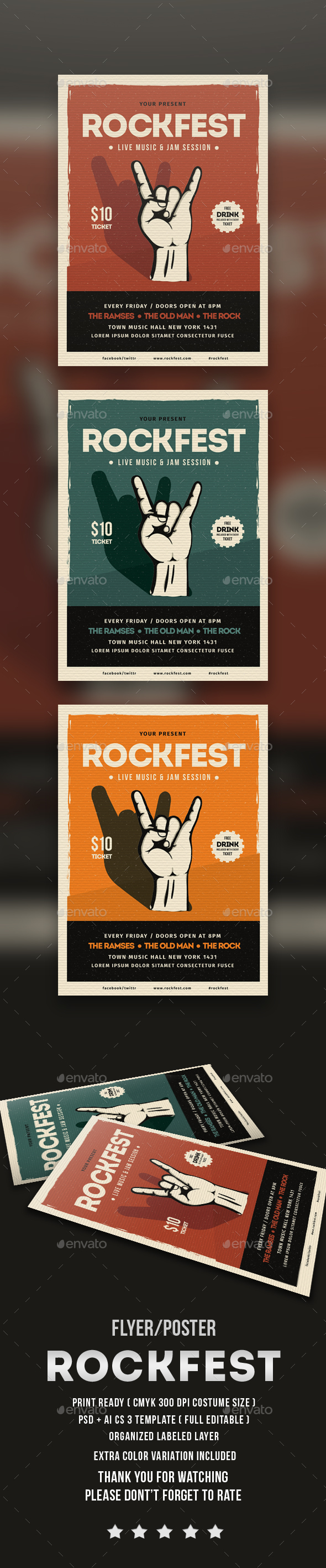 Rock Festival Flyer - Events Flyers
