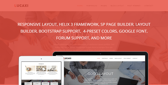 Lucaxi – Multipurpose Joomla Template