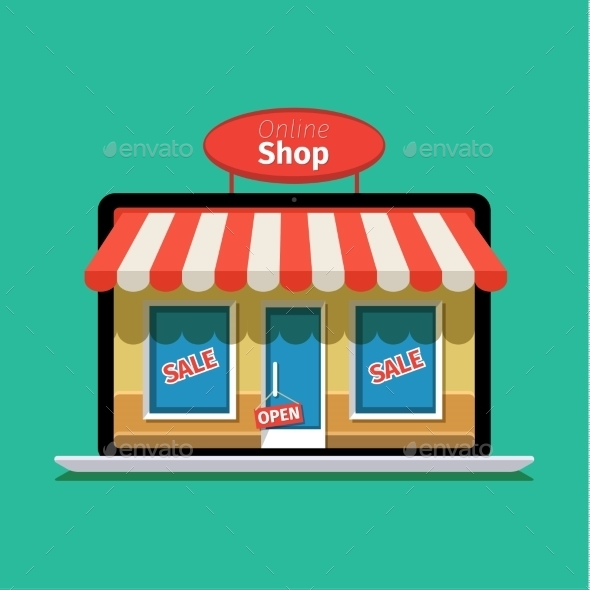 Concept Of Online Shop.  - Retail Commercial / Shopping
