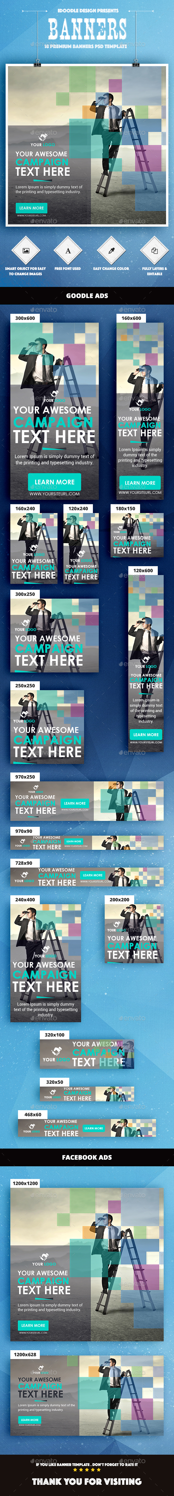 Color Mix / Multipurpose Banner Ad - Banners & Ads Web Elements