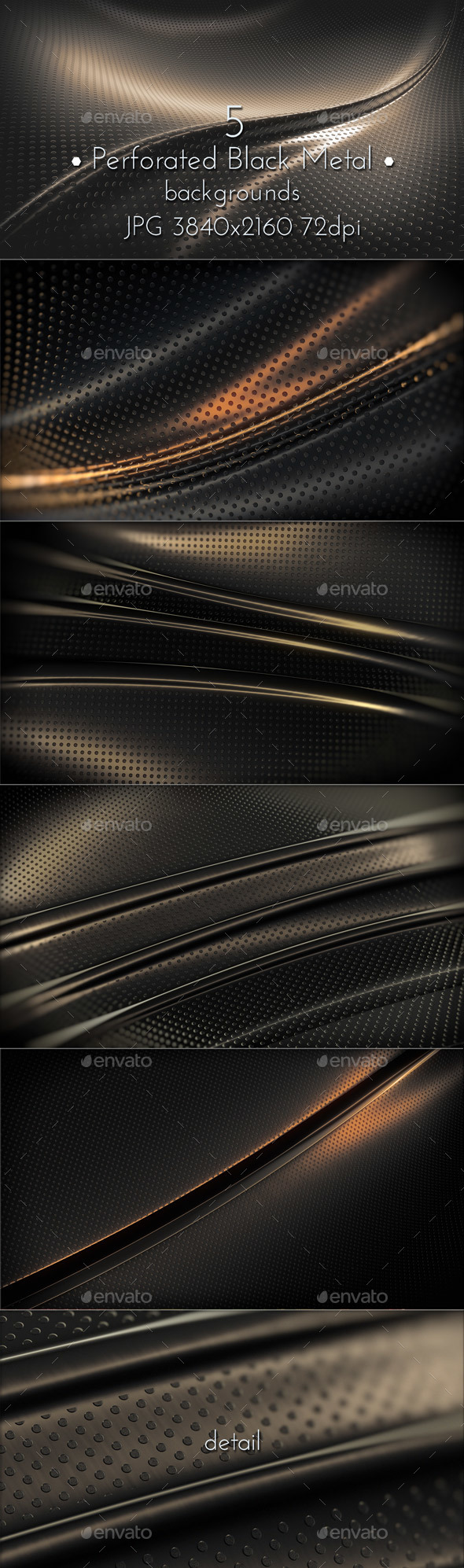 Perforated Black Metal Surface - Tech / Futuristic Backgrounds