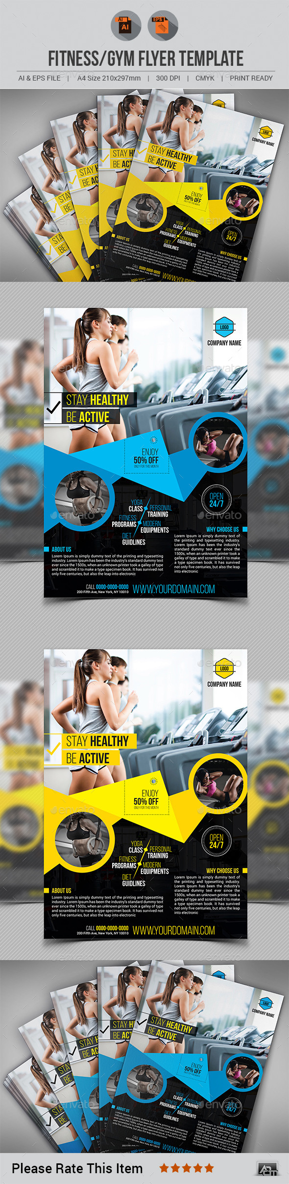 Fitness/Gym Flyer Template V10
