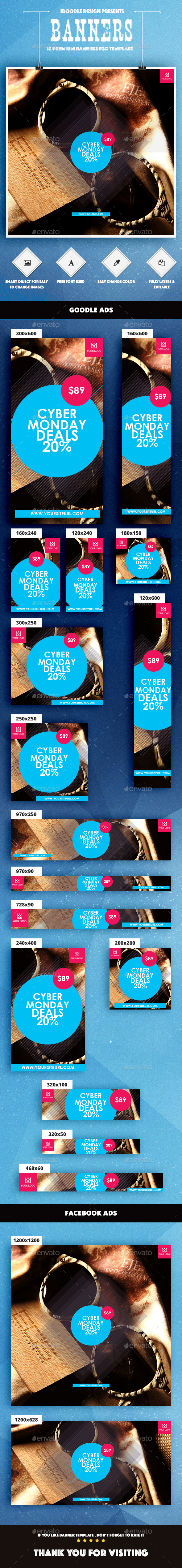 Cyber Monday Banner Ad - Banners & Ads Web Elements