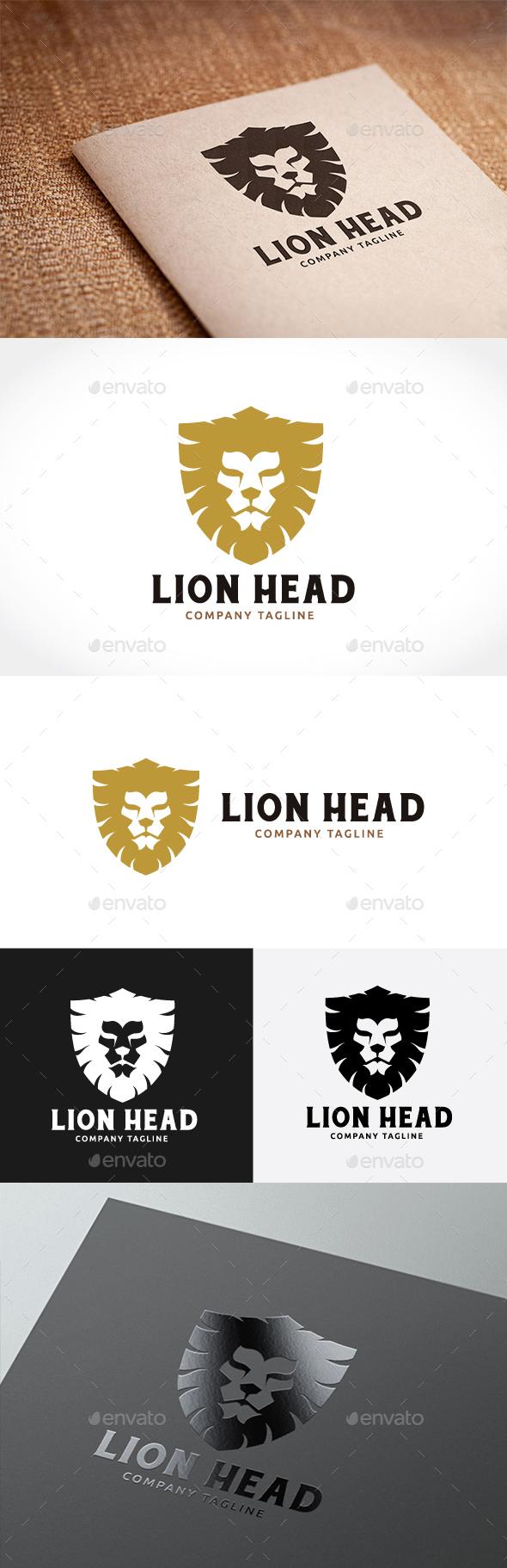 Lion Head - Animals Logo Templates