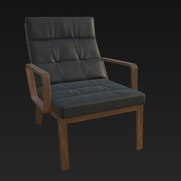 Andoo Lounge Armchair - 3DOcean Item for Sale