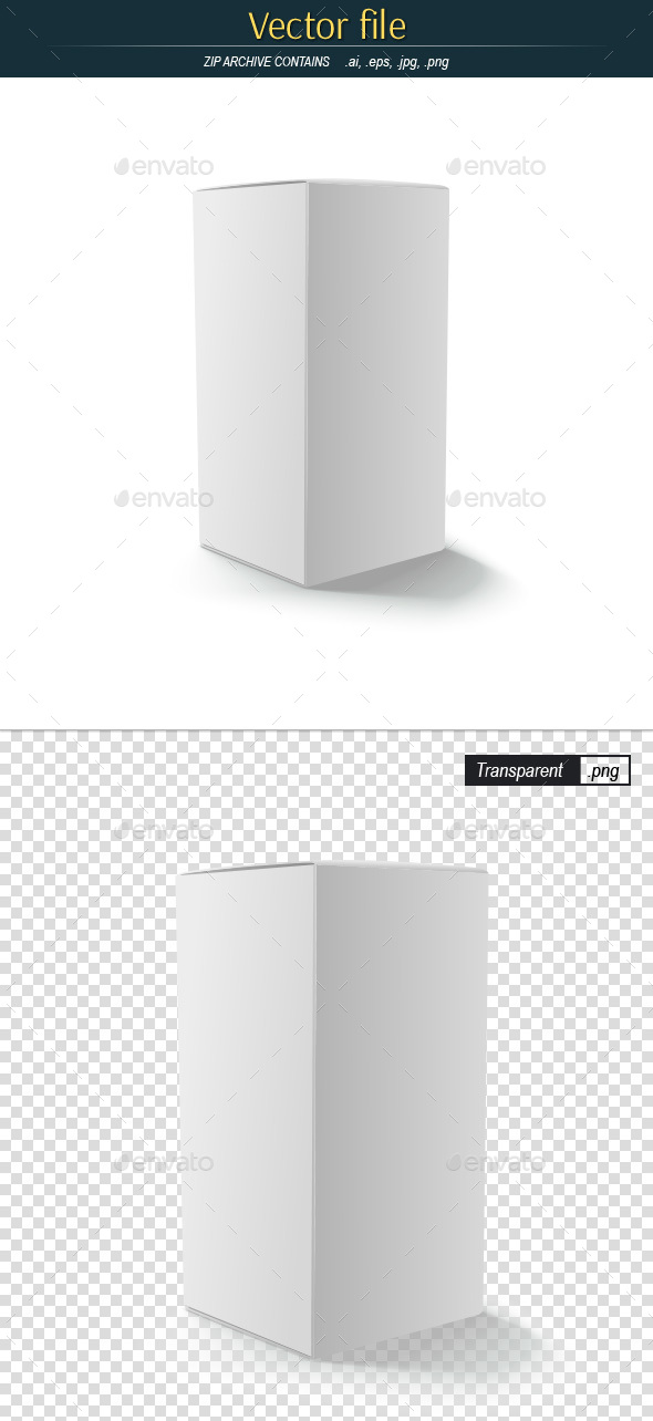 Cardboard Box Vector Template - Man-made Objects Objects