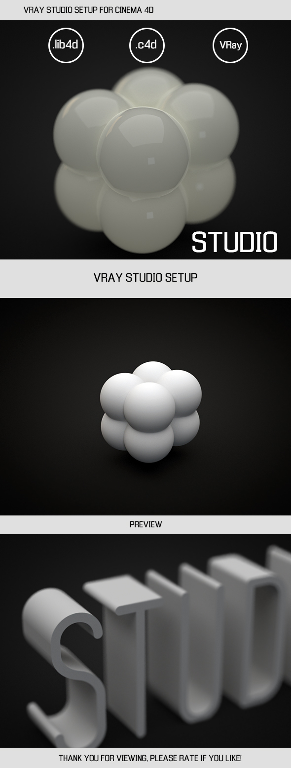 VRAY STUDIO SETUP FOR CINEMA 4D - 3DOcean Item for Sale