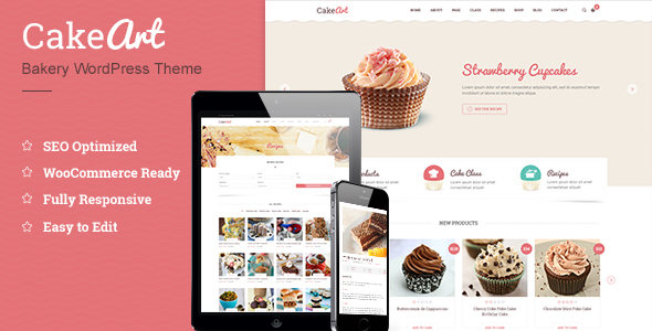 Bakery & Cake WordPress Theme – Cake Art