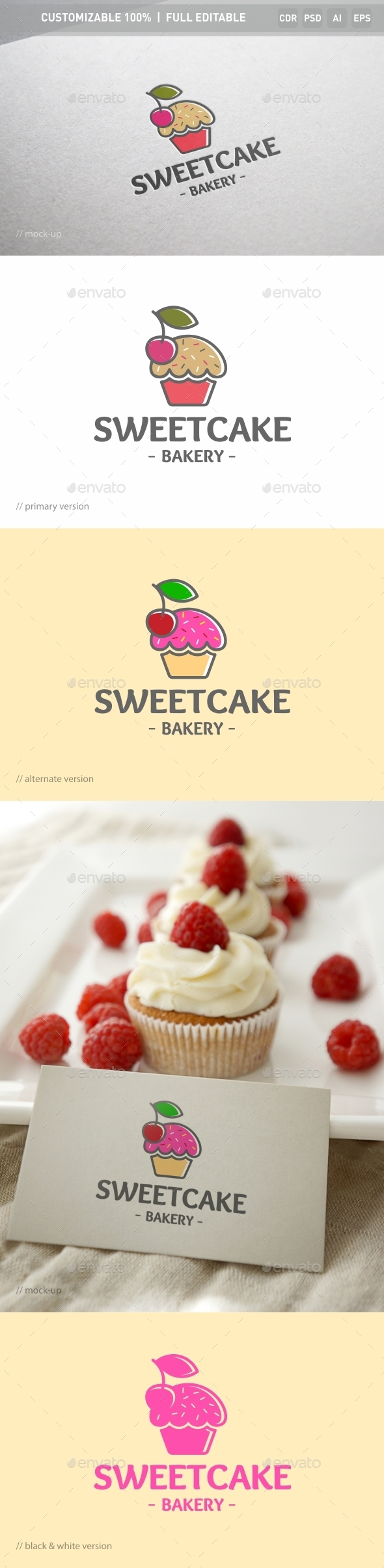 Sweet Cake Logo Template - Objects Logo Templates