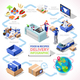 Delivery 04 Infographic Isometric - GraphicRiver Item for Sale