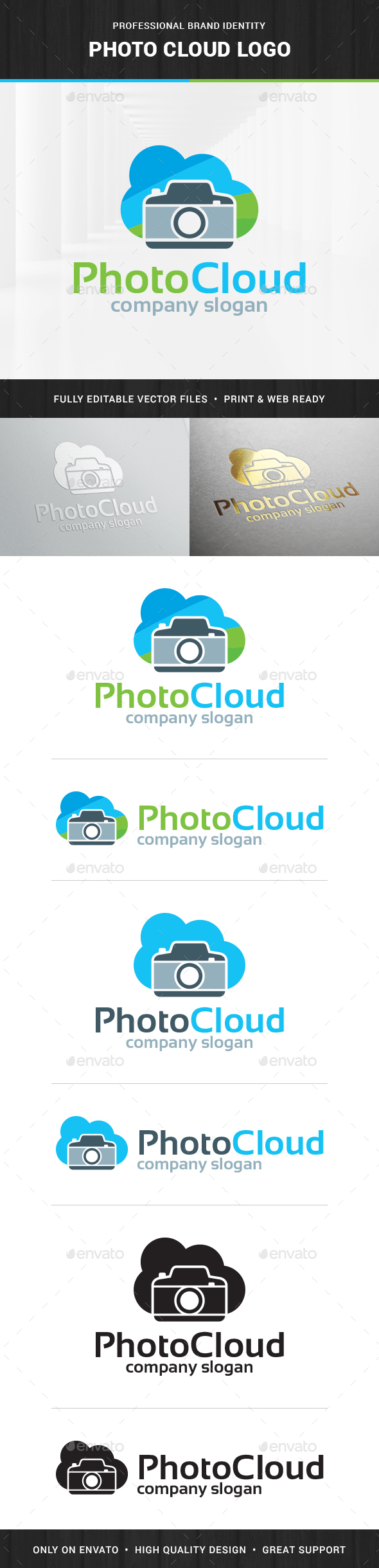 Photo Cloud Logo Template - Objects Logo Templates