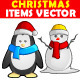 Christmas Items Vector - GraphicRiver Item for Sale