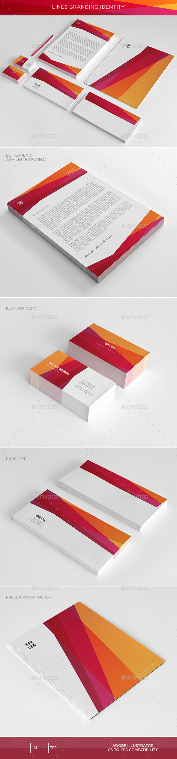 Abstract Lines Corporate Identity - Corporate Business Cards