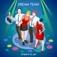 Team Party 02 People Isometric - GraphicRiver Item for Sale
