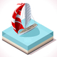 Sail Boat Set 02 Vehicle Isometric - GraphicRiver Item for Sale