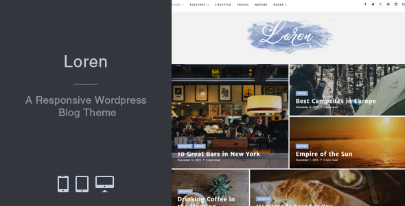 Loren – Responsive WordPress Blog Theme