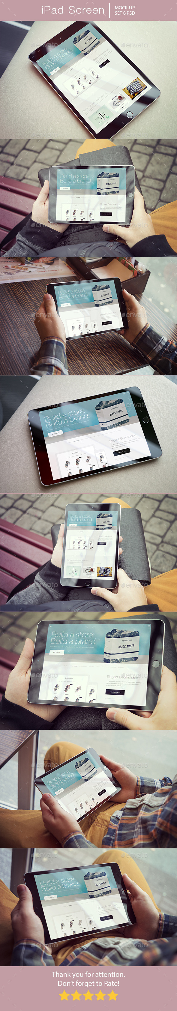iPad Screen Mockup - Mobile Displays