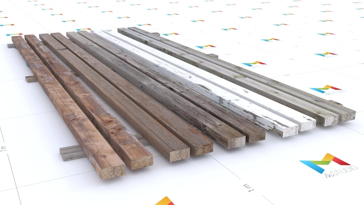Realistic Wood Beams