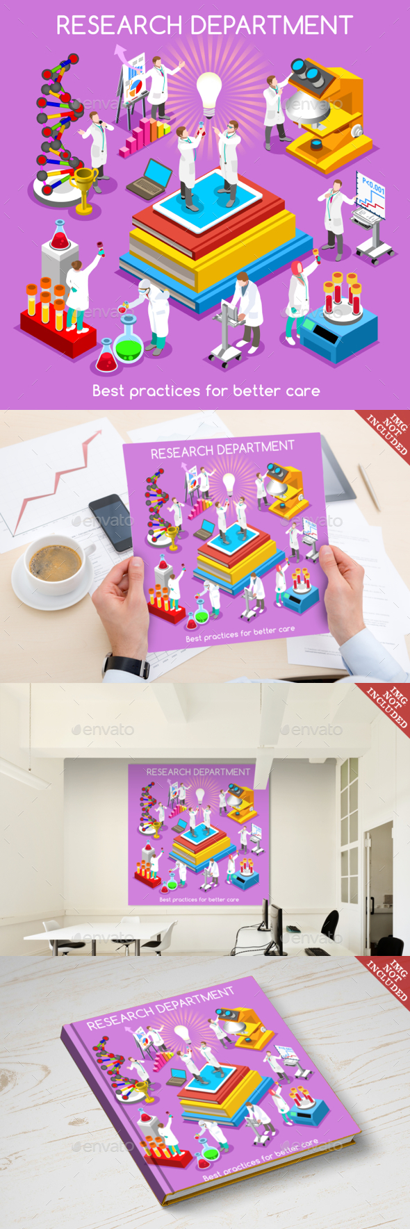 Hospital 20 People Isometric - Health/Medicine Conceptual