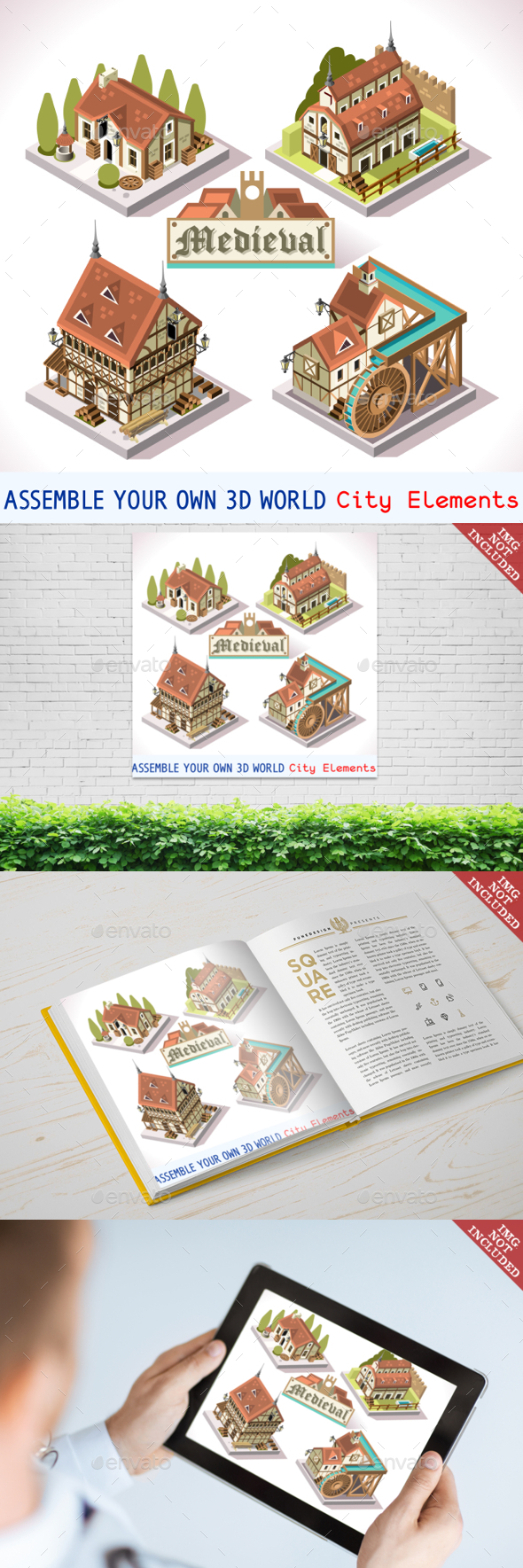 Medieval 02 Tiles Isometric - Buildings Objects