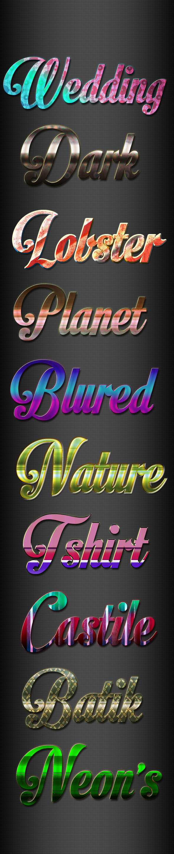 New Photoshop Text Styles vol 11 - Text Effects Styles