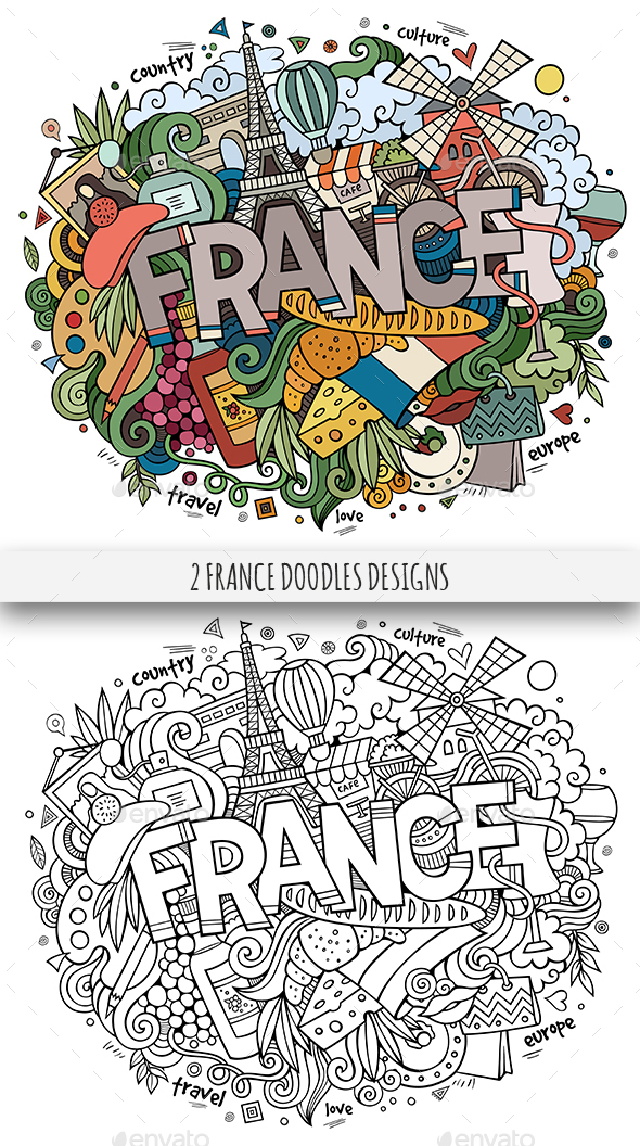 France Doodles Designs - Travel Conceptual