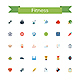 Fitness Flat Icons - GraphicRiver Item for Sale