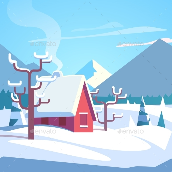 Winter Mountains Landscape Scenic - Seasons Nature