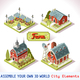Farm Tiles 03 Set Isometric - GraphicRiver Item for Sale
