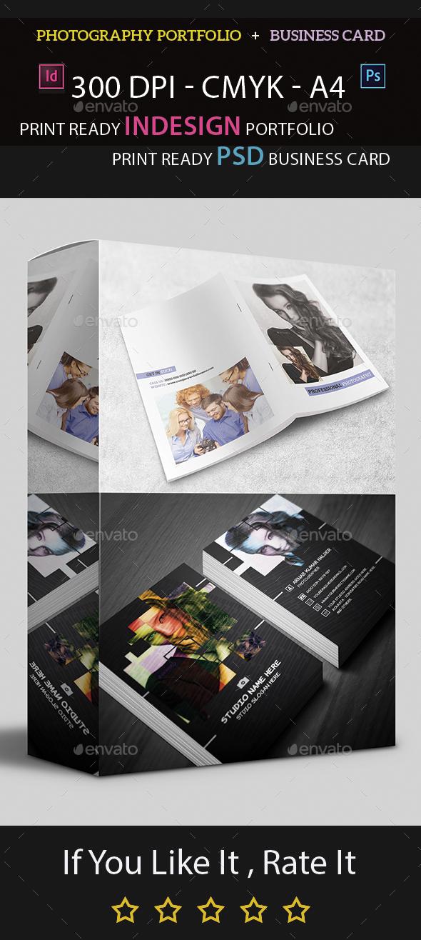 Photography Portfolio and  Business Card (Bundle) - Print Templates