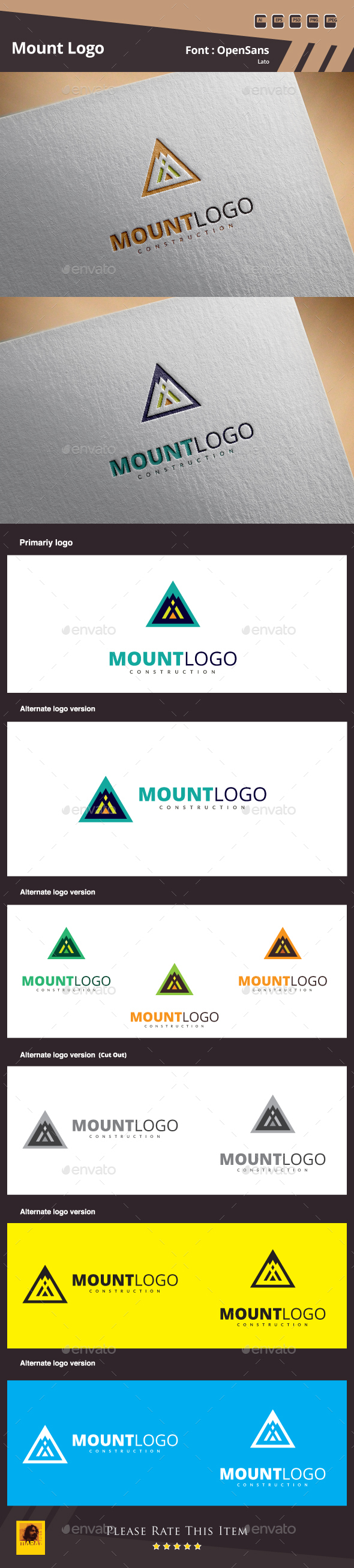 Mount Logo - Buildings Logo Templates