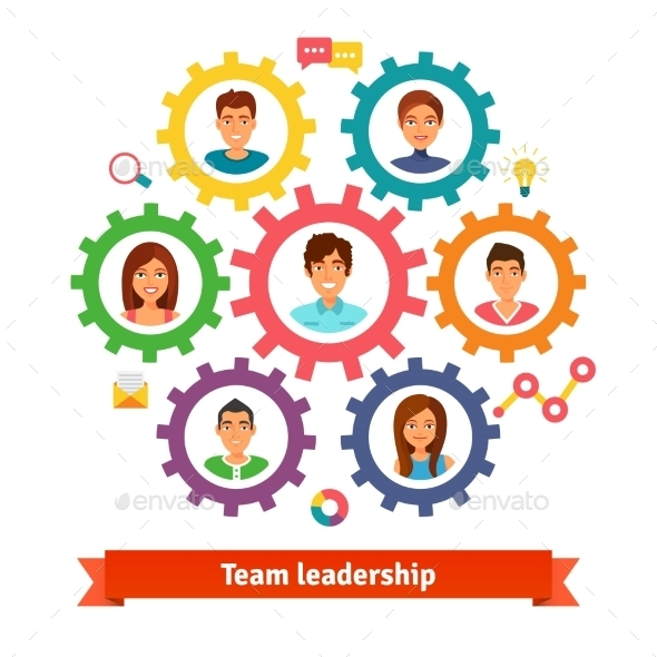 Teamwork And Leadership Concept - Concepts Business