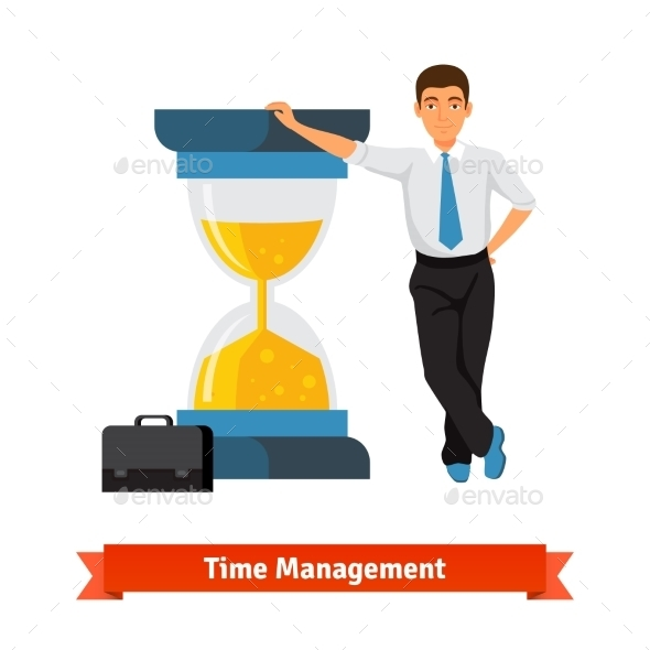 Time Management Concept. Businessman - Business Conceptual
