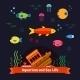 Underwater Sea Life. Aquarium - GraphicRiver Item for Sale