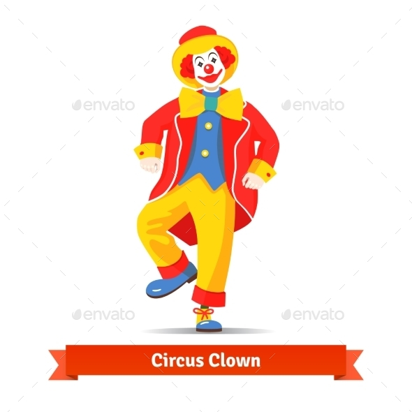 Dancing Circus Clown - Characters Vectors