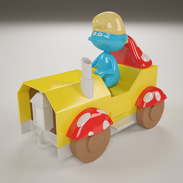The Smurf Toy - 3DOcean Item for Sale