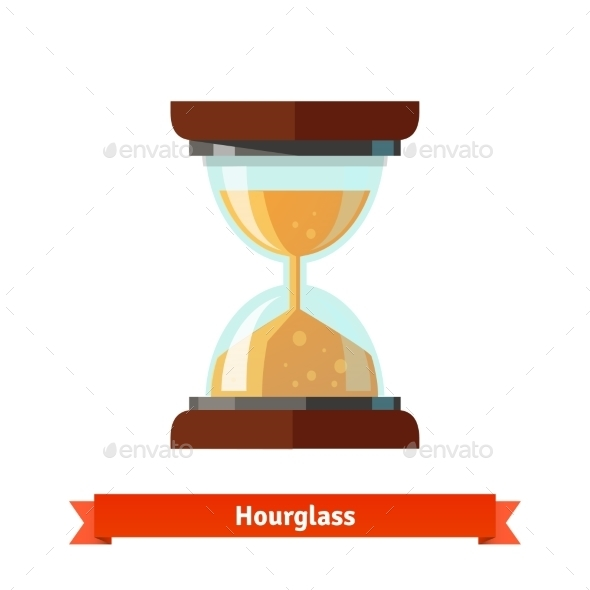 Hourglass Icon - Abstract Conceptual