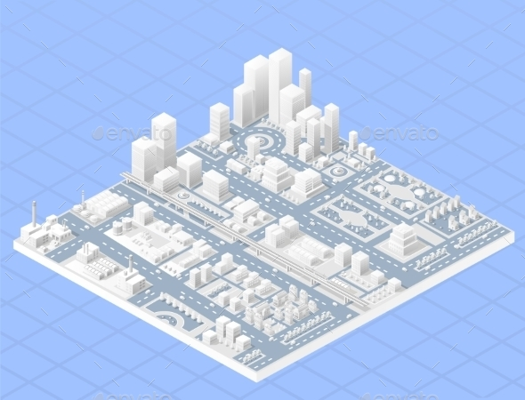 Large Modern City  - Buildings Objects