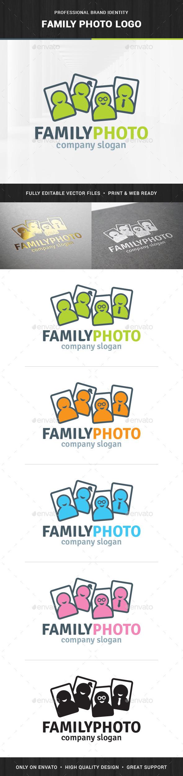 Family Photo Logo Template - Humans Logo Templates
