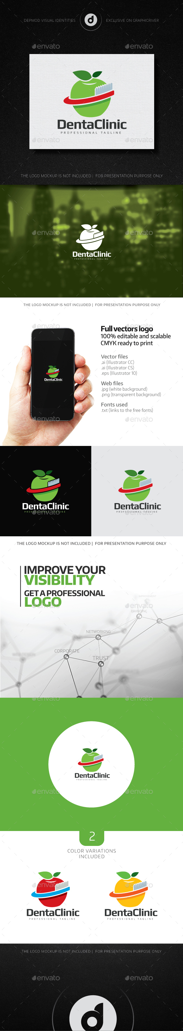 DentaClinic Logo - Symbols Logo Templates
