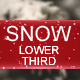 Snow Lower Third - VideoHive Item for Sale
