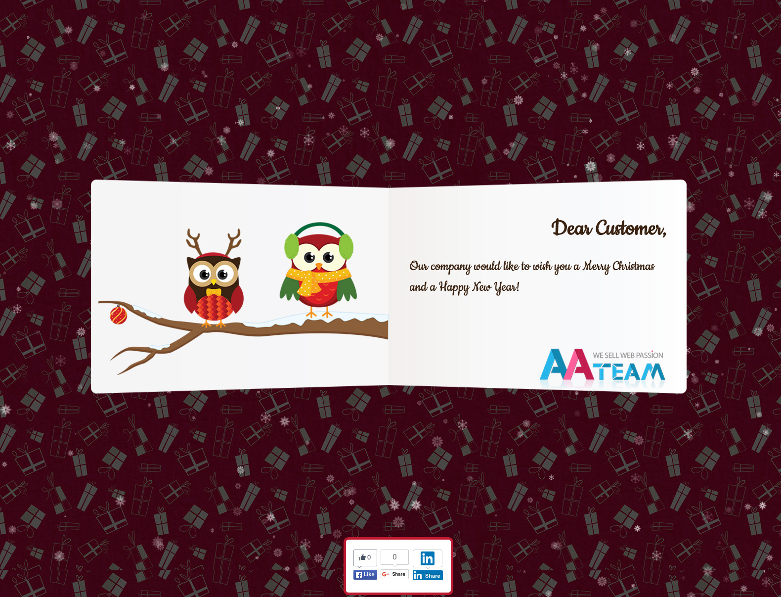 Business Christmas Greeting Card Wp Plugin By Aa Team Codecanyon