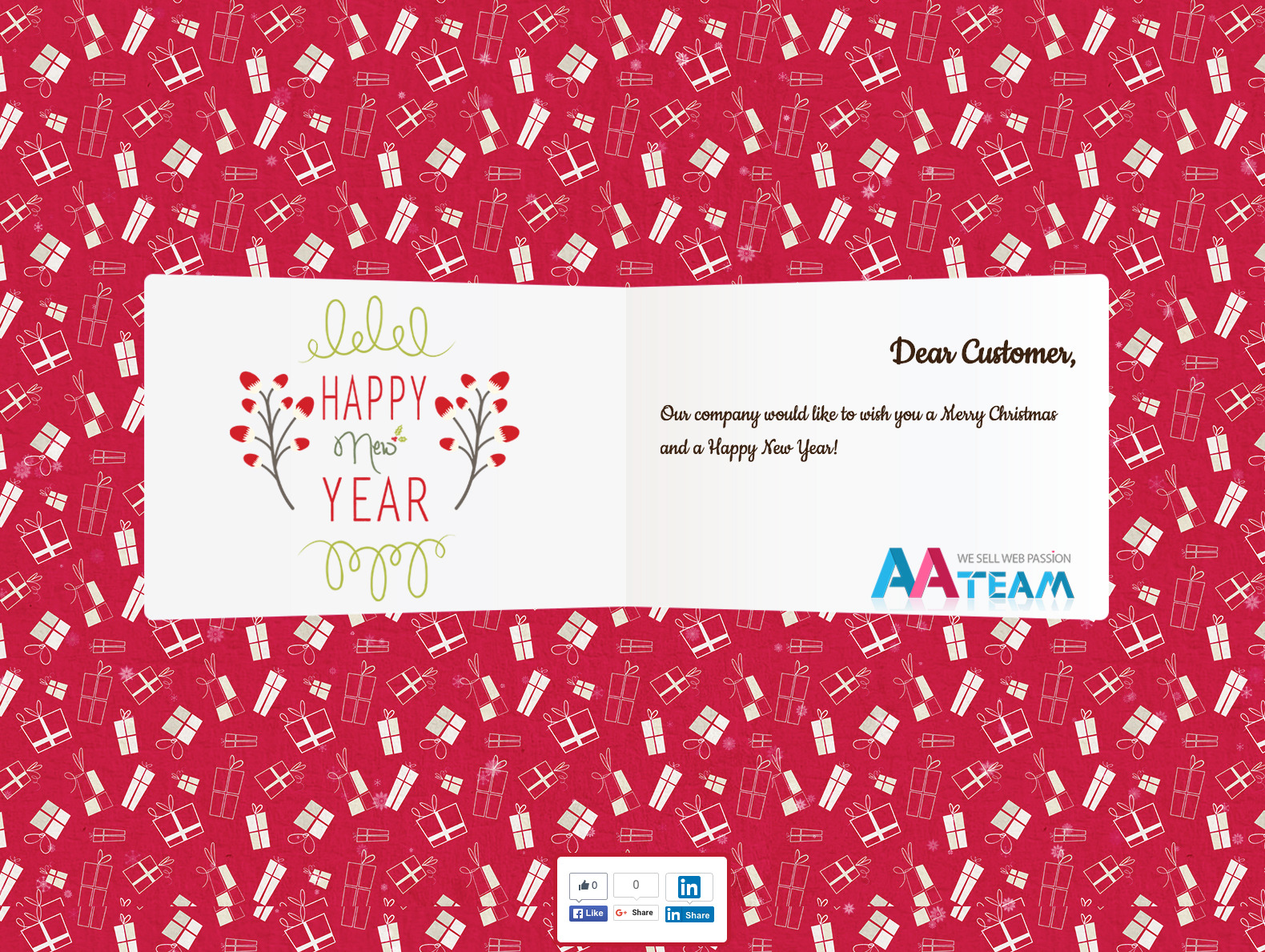 Business Christmas Greeting Card - WP Plugin by AA-Team | CodeCanyon