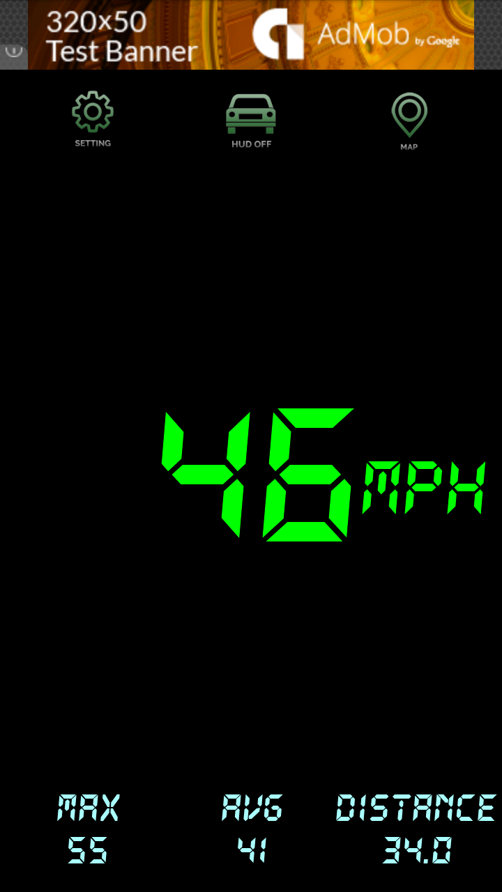 Android Speedometer with Admob